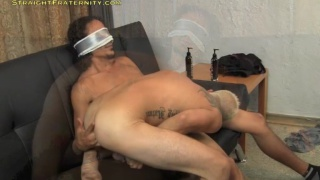 blindfolded straight guy