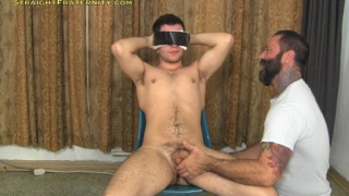 Bradley Boyd blindfolded and milked