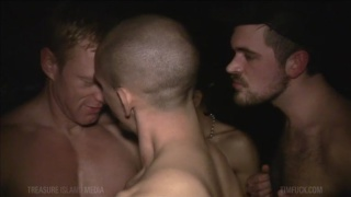 cock addicted cum slut fucked by three men