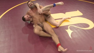 kirk cummings vs dominic pacifico in naked wrestling