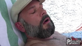 sexy daddy bear with salt 'n pepper beard