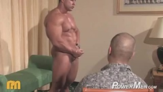 Worshiping massive muscles