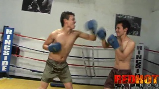 Latin sparring partners fuck