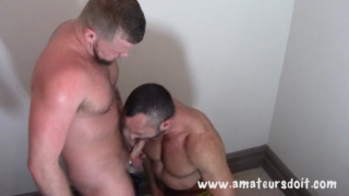 Rugged top fucks a muscle bottom