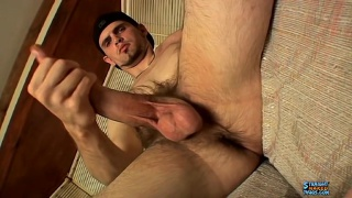 Straight Stud nolan plays with his Monster Cock
