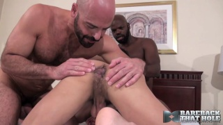 real-life interracial lovers share a horny bottom