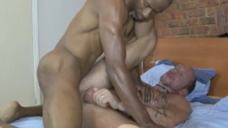 jerry stearms unloads in randy hardens' ass