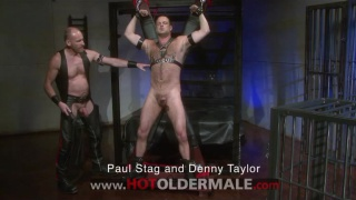 Leather alpha-daddy Paul fucks his sub boy