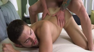 inked stud griffin bare fucks palmer's ass