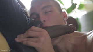 white boy gets his hole stretched by huge dominican cock