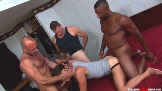 tops Kamrun, BJ Slater, and Chad Brock fuck jackson