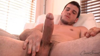 gorgeous nolan strokes his big beautiful cock