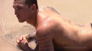 inked lad from queensland jacking his dick