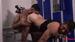 Hairy and Hard Locker Room Fuck