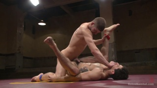 naked wrestlers Conner Halsted vs Mikoah Kan