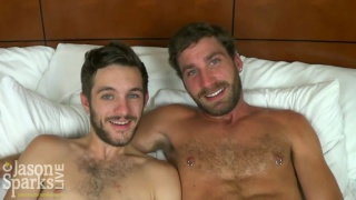 Jaxon Blake and Corbin Riley BAREBACK at jason sparks live