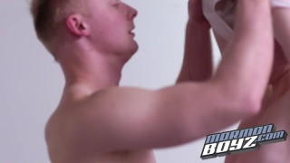 showing his mormon buddy how good a blowjob feels
