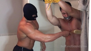 Nick Eros Shower Bondage