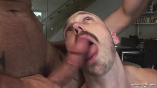 cock-hungry bottom taking care of two tops