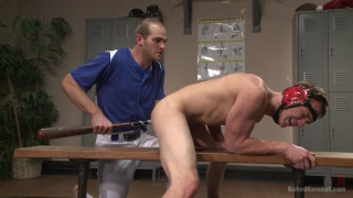 wrestler fucks baseball player with his bat
