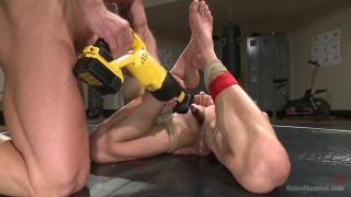 Mitch Vaughn dildo fucks Ivan Gregory on wrestling mats