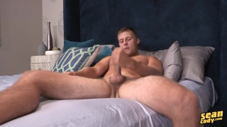 mason jacks his dick in bed