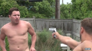 jack king fucks two bottoms by pool