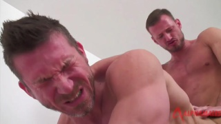 Tomas and Logan fuck in their Stockholm apartment