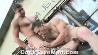 euro hunks raw fucking on the roof