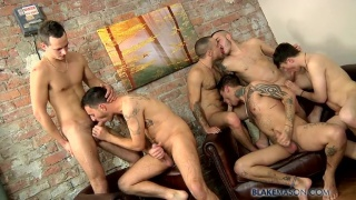 6 Guys Fuck in Blake Mason's 1000th Scene