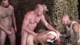 5 horny men bareback a hungry bottom