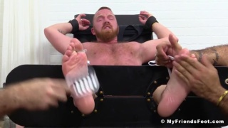 Redhead Hunk Red Gets Tickled