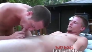 KB Cox is giving Jessie Owens a massage and blowjob