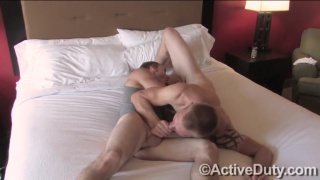 brock and tim fucking bare on the bed
