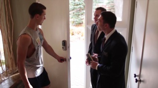 Mormon boys come knocking