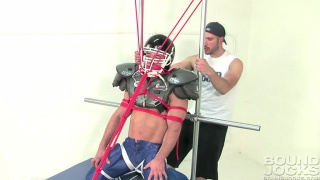 knotty brent ropes up a football hunk