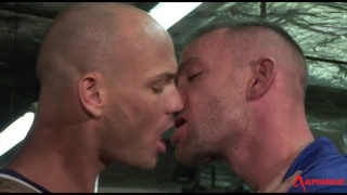 kurt rogers licks his own cock while darren gets horny