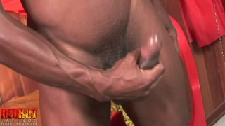 sexy black stud higor jerking off