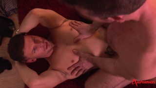 Muscle Man Gets Pounded with Scott Hunter and Theo Reid
