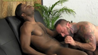 sucking off a sexy black dude