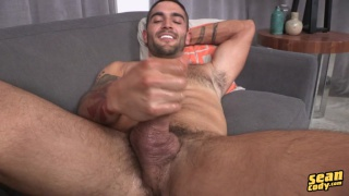 sexy dark-haired stud kelvin jacks off