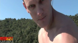 ripped and tattooed christian jerks off