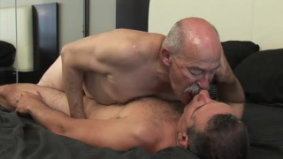 60-year-old daddy fucks younger man