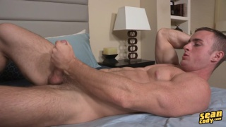 handsome ripped stud caden jacks off