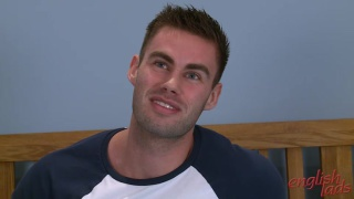 Muscular Straight Lad Tom Pumps his Very furry Hole