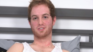 scruffy-faced ginger beats off