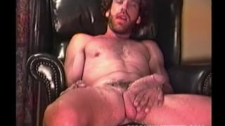 ragged and bearded Lee strokes his big dick