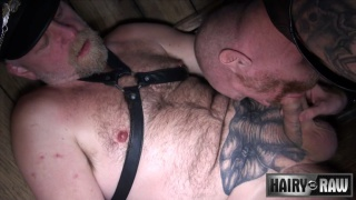 inked ginger top daddy pounds his bottom's ass
