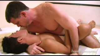 smooth asian twink gets fucked by horny daddy