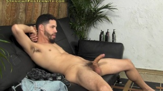 zee jerks his big uncut cock